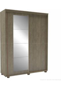 Guarda-Roupa 2 Portas De Correr 3 Gavetas Com Pés Inovatto 100% Mdf 230 X 178,5 X 60 Com Espelho Ébano - Belmax Móveis