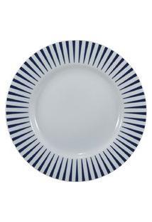 Prato Sobremesa 21 Cm Porcelana Schmidt - Dec. Sol Azul