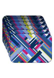 Jogo Americano - Love Decor Geometric Shapes Kit Com 6 Peças