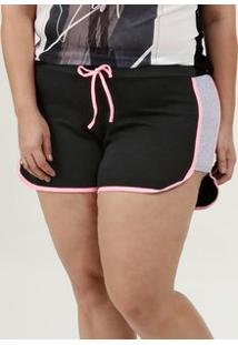 Short Feminino Moletinho Neon Plus Size
