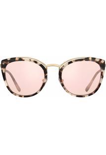 Prada Eyewear Óculos De Sol Espelhado Gatinho - Rosa