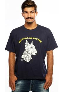 Camiseta Hardivision The Dog Manga Curta - Masculino