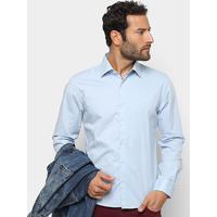 ba60daa12 Camisa Manga Longa Ellus Tricoline Slim Masculina - Masculino-Azul Claro