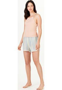 Pijama Feminino Curto Com Decote Halter Neck