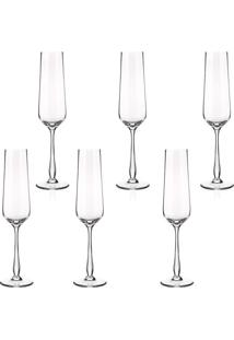 Taça Flauta Banquet Crystal Gourmet 235Ml 6 Peças - 30108