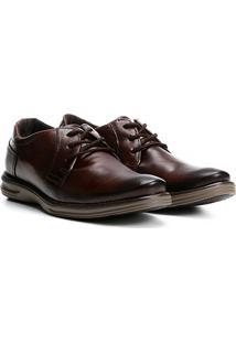 Sapato Social Couro Pegada Masculino - Masculino-Caramelo