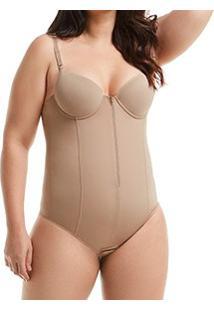 Body Modelador Com Zíper Mondress (755Re) Plus Size