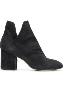 Officine Creative Ankle Boot De Couro Com Salto - Preto