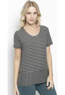 Camiseta Abstrata - Branca & Amarela - Colccicolcci