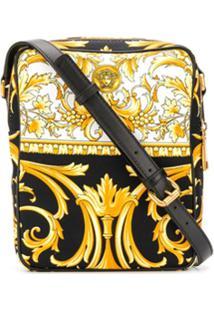 Versace Bolsa Carteiro Baroque - Amarelo