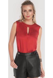 Blusa Com Gota Vermelho