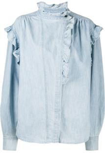 Isabel Marant Étoile Blusa Jeans Gossia - Azul