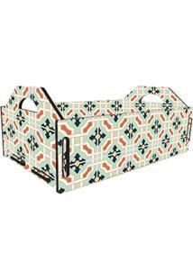 Caixa Casa Da Mãe Joana Fruteira Azulejo Hidráulico Verde