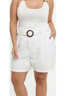 Bermuda Feminina Sarja Clochard Plus Size Marisa