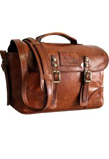 Bolsa Line Store Leather Case Couro Whisky Rústico.