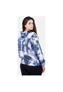 Jaqueta Corta Vento Chess Clothing Feminina Tie Dye Azul
