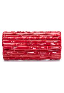 Clutch Feminina Bambu - Vermelho