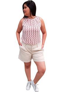 Blusa Crepe Linda D+ Regata Vermelho (4007) - Kanui
