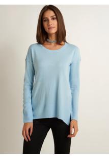 Blusa Le Lis Blanc Ella Tricot Azul Feminina (Soft Blue, P)