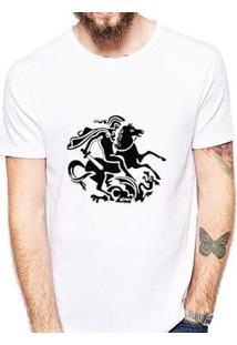 Camiseta Coolest São Jorge Masculina - Masculino-Branco