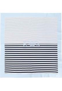 Emporio Armani Kids Cobertor Listrado - Branco