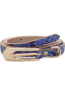 Cinto Birô Snake Feminino - Feminino-Azul