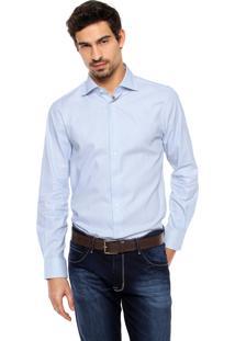 Camisa Tommy Hilfiger Reta Branca/Azul