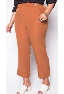 Calça Almaria Plus Size New Umbi Pantacourt Lisa D
