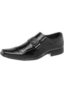 Sapato Pisa Forte Social Esporte Preto