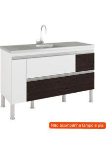 Balcão De Cozinha Prisma 2 Pt 3 Gv Branco E Café