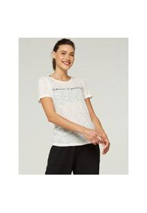 Amaro Feminino Yogini Camiseta Yog Cotton Silence Is Golden, Off-White