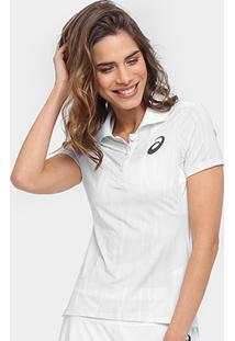 Camiseta Polo Asics Tennis Racer Feminina - Feminino-Branco