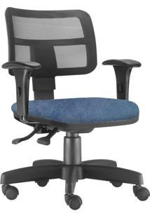 Cadeira Giratória Executiva Lyam Decor Zip Azul