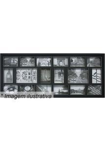 Painel Para 18 Fotos- Preto- 43X103X3Cm- Kaposkapos