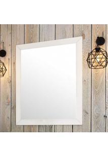 Espelho De Parede Provença 95Cmx78Cm Móveis Bosi Branco Pet