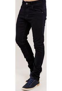 Calça Jeans Skinny Masculina Rock E Soda Azul Marinho