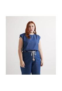 Regata Jeans Muscle Tie Curve & Plus Size Azul