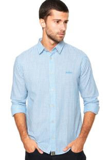 Camisa Triton Logo Azul