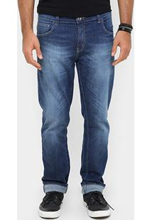 Calça Jeans Coca-Cola Regular Fit Estonada Masculina - Masculino