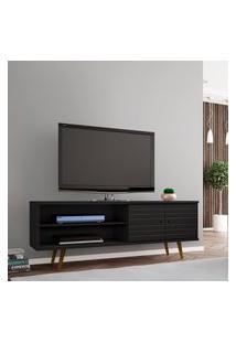 Rack Móveis Bechara Onix Para Tv Até 60 Pol 2 Portas Preto Fosco
