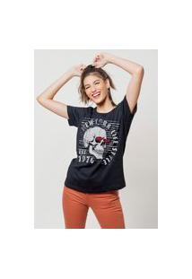 Camiseta Jay Jay Básica New York Ls Preta