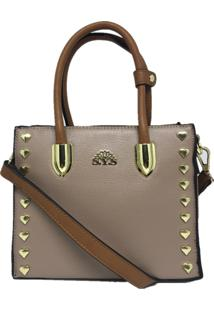 Bolsa Pequena Casual Importada Sys Fashion 8530 Bege