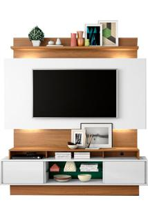 Estante Home Theater Para Tv Hades Off White | Freijó