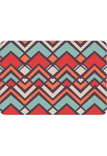 Tapete Geométrico Colorido- Vermelho & Azul Claro- 1Wevans