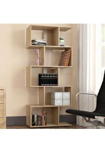 Estante Para Livros Office Plus 5 Nichos Castanho - Appunto