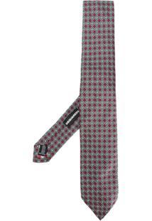 Dsquared2 Gravata De Seda Com Padronagem - Grey