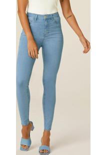 Calça Azul Claro Skinny Jeans Cintura Alta