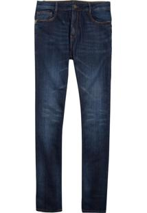 Calça John John Slim Samarra Jeans Azul Masculina (Jeans Escuro, 38)