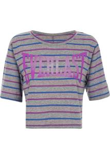 Blusa Everlast Cropped Listrada Neon