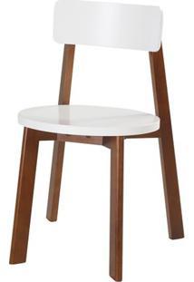 Cadeira Lina Cor Cacau Com Branco - 31532 - Sun House